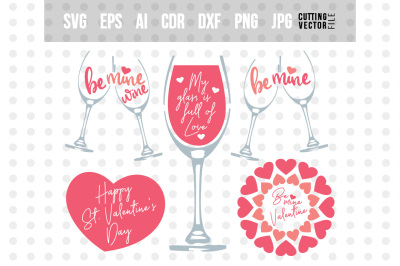 Valentine's Day Bundle- svg, eps, ai, cdr, dxf, png, jpg