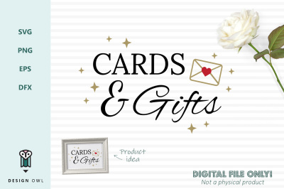 Cards and gifts - SVG file
