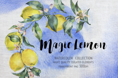 Magic Lemon, watercolor collection