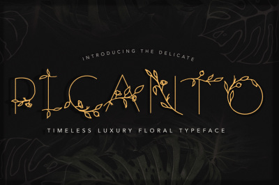 PICANTO Floral Font- ALL CAPS