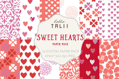 SWEET HEARTS DIGITAL PAPER