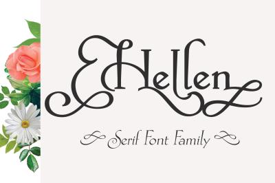 Hellen   Serif Font