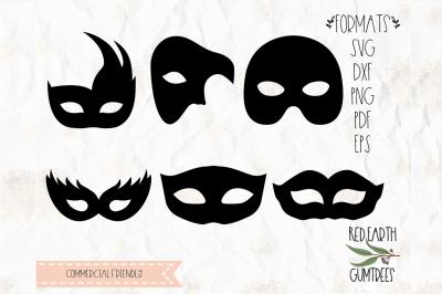 Mardi Gras mask bundle in SVG,DXF,PNG,EPS,PDF formats