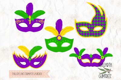 Mardi Gras masks, carnival masks in SVG,DXF,PNG,EPS,PDF formats