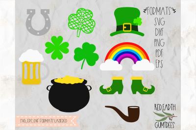 St. Patrick's day bundle, Shamrock SVG,DXF,PNG,EPS,PDF formats