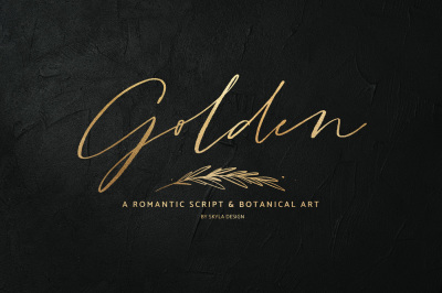 Golden, a romantic script & art