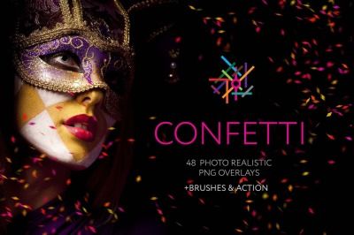 48+ Confetti Photo Overlays