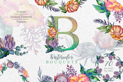Bouquets a special case Watercolor png
