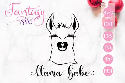 Llama babe svg cut files