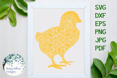 Easter Mandala SVG Bundle | Rabbit, Bunny, Egg, Basket, Cross, Chick