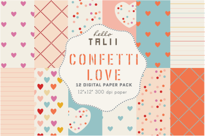 CONFETTI LOVE DIGITAL PAPER