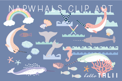 NARWHAL CLIP ART