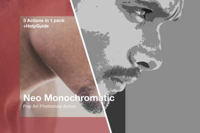 Monochromatic Pop Art Photoshop action
