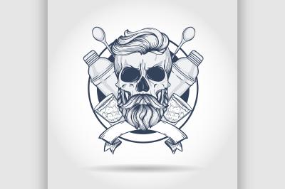 Sketch, barman skull