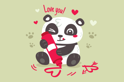 Panda Love Valentine's Day