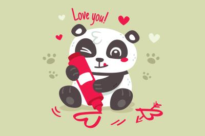 Panda Love Valentine's Day