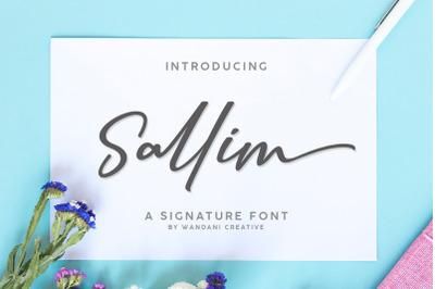 Sallim | Signature font