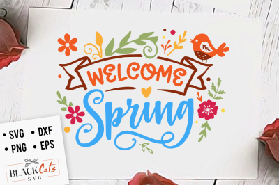 Welcome spring SVG
