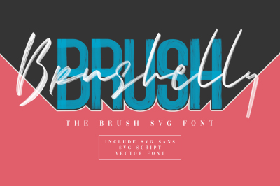 Brushelly SVG Brush Font