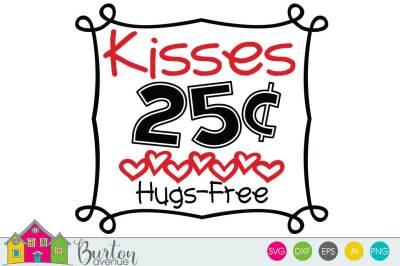 Kisses for Sale Valentine SVG File