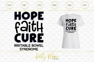 Hope Faith Cure - Irritable Bowel Syndrome SVG