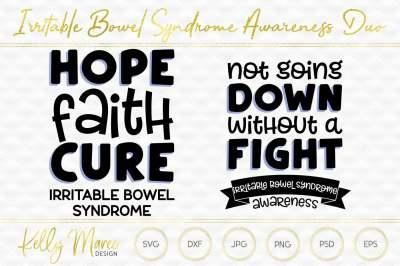 Irritable Bowel Syndrome Awareness SVG Duo