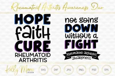 Rheumatoid Arthritis Awareness SVG Duo