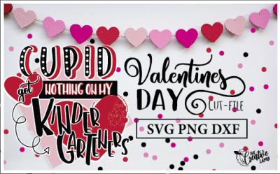 Valentines cut-file Teacher SVG Kindergarten