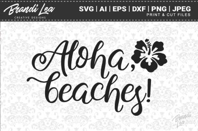 Aloha Beaches SVG Cut Files
