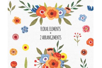 Floral Elements Clipart Flowers PNG