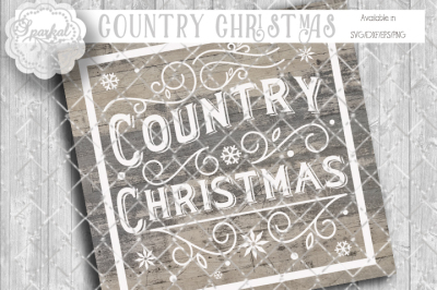 Vintage Country Christmas Cutting Design