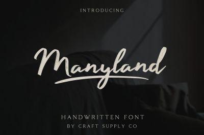 Manyland - Handwritten Font