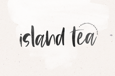 Island Tea - Handwritten Brush Font
