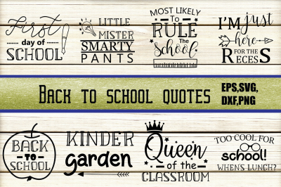 Back to school Quotes SVG