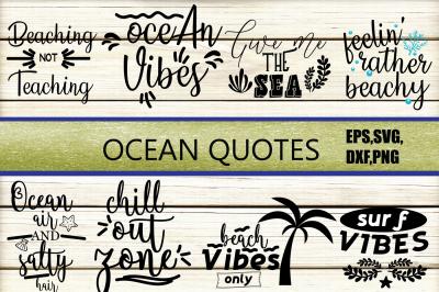 Ocean Quotes SVG