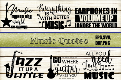 Music Quotes SVG