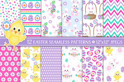 Easter digital paper, Easter patterns, Easter, Spring