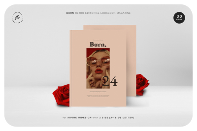 BURN Retro Editorial Lookbook Magazine