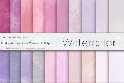 Watercolor Digital Papers, Watercolor Background