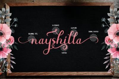 Beauty Nayshilla Font Duo