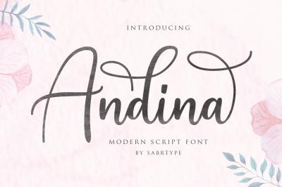 Andian Modern Script Font