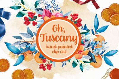 Tuscany Watercolour Clip Art