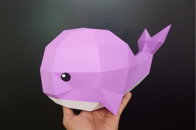 DIY Whale Sculpture - 3d papercraft