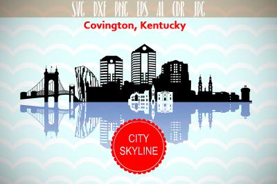 Covington City in Kentucky city Vector Skyline