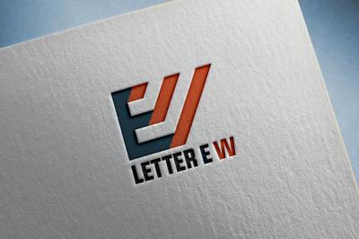 Letter E & W Logo