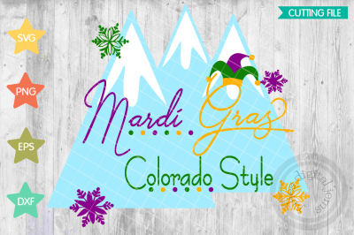 Mardi Gras Colorado svg