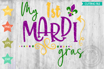 My first Mardi Gras svg,