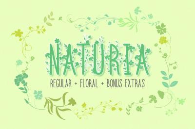 Naturia Floral Font & Bonus Extras