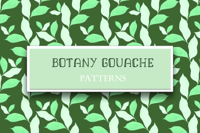 Botany gouache. Patterns collection