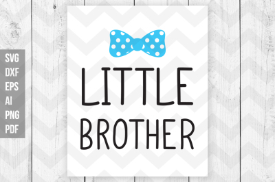 Little brother SVG/DXF Cut/Print files